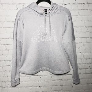 Adidas Team Issued Hooded Gray Sweatshirt
